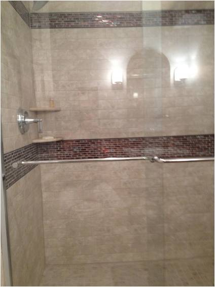 Add an interesting tile pattern to the shower